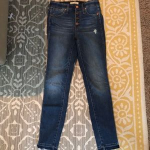 """Madewell 10"""" Rise jeans"""